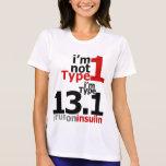 Wicking - Mitad-Marathoners del diabético del tipo Camisetas