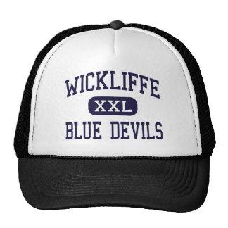 Wickliffe - diablos azules - alto - Wickliffe Ohio Gorros Bordados
