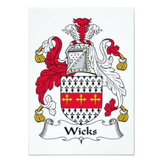 Wicks Family Crest Invitation