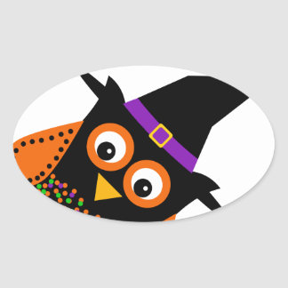 Wicky the Adorable Witch Oval Sticker