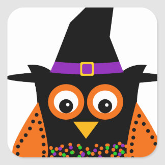 Wicky the Adorable Witch Square Sticker