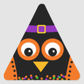 Wicky the Adorable Witch Triangle Sticker