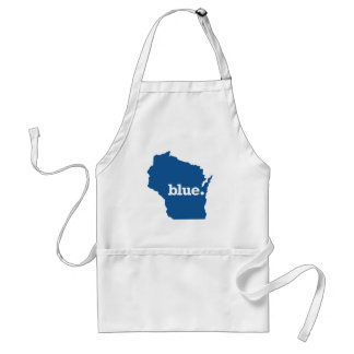 WICONSIN BLUE STATE ADULT APRON