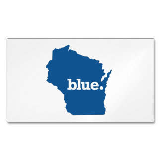 WICONSIN BLUE STATE BUSINESS CARD MAGNET