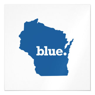 WICONSIN BLUE STATE MAGNETIC CARD