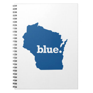 WICONSIN BLUE STATE SPIRAL NOTEBOOK