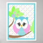 Widdle Owl Print