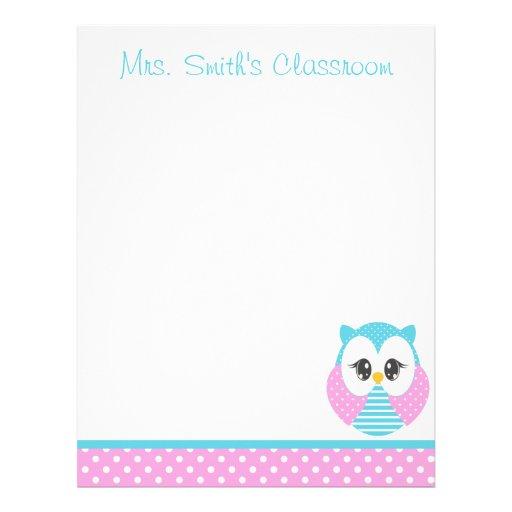Widdle Owl Stationery-Letterhead 2