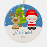 Widdle Wonders Santa  Christmas Ornament