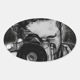 Wide Angle Lens Oval Sticker