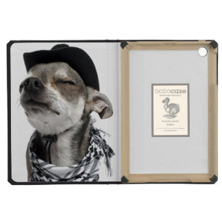 Wide-angle of a Chihuahua with his eyes closed iPad Mini Case