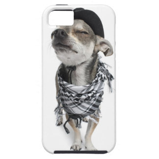 Wide-angle of a Chihuahua with his eyes closed iPhone SE/5/5s Case