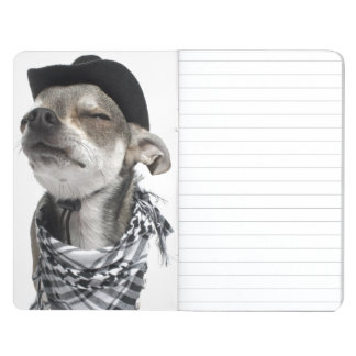 Wide-angle of a Chihuahua with his eyes closed Journal