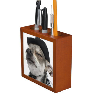 Wide-angle of a Chihuahua with his eyes closed Pencil/Pen Holder