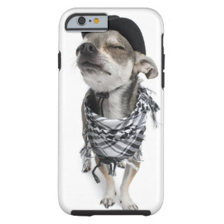 Wide-angle of a Chihuahua with his eyes closed Tough iPhone 6 Case