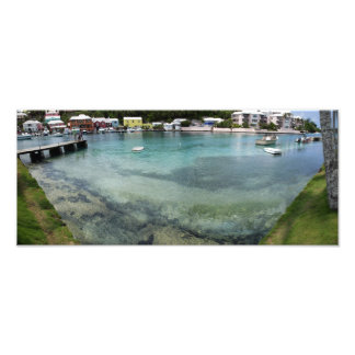 Wide-angle panorama of Flatts Inlet Photo Print