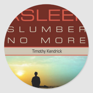Wide Asleep Promotional Classic Round Sticker