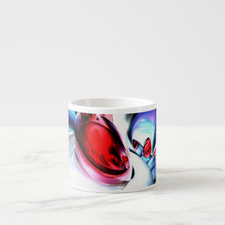 Wide Awake Abstract Print Espresso Cup
