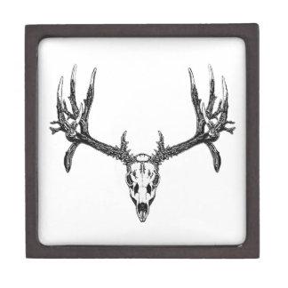 Wide buck skull jewelry box