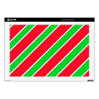 Wide Christmas Stripes Decals For Laptops