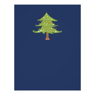 Wide Christmas Tree on Deep Blue Flyer
