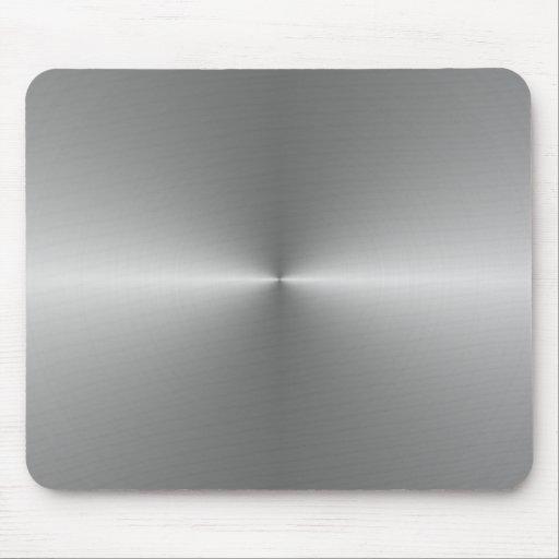wide circular steel mouse mats