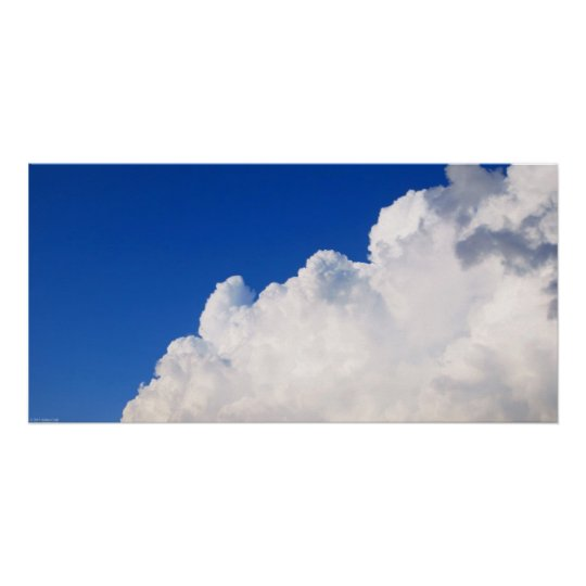 Wide Clouds Art Poster Print