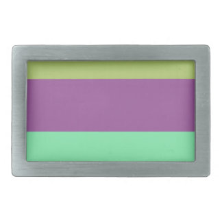 Wide Color Stripes Belt Buckle