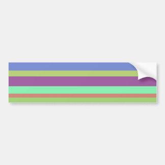 Wide Color Stripes Bumper Sticker