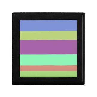 Wide Color Stripes Jewelry Box