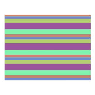 Wide Color Stripes Postcard