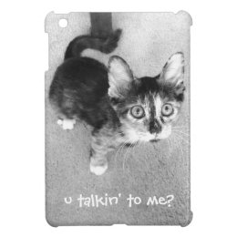 Wide-Eyed Kitten; u talkin' to me? iPad Mini Case