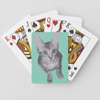 Wide Eyed Kitty Playing Cards