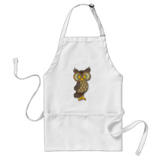 Wide Eyed Owl Adult Apron