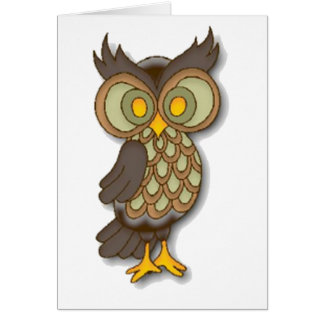 Wide Eyed Owl Cards