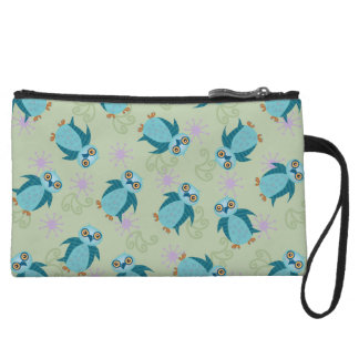 Wide-Eyed Owl Pattern Clutch