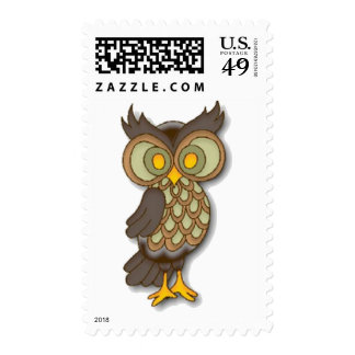 Wide Eyed Owl Postage Stamps