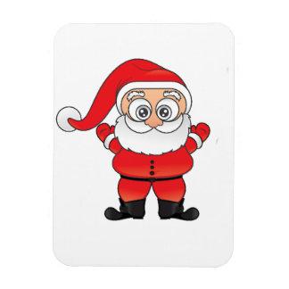 Wide Eyed Santa Rectangular Photo Magnet
