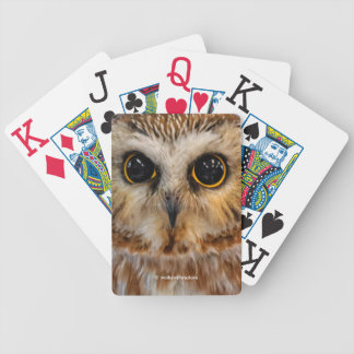 Wide-Eyed with Wonder: A Saw Whet Owl Bicycle Playing Cards