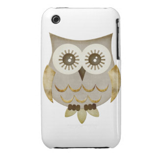 Wide Eyes Owl Case iPhone 3 Case