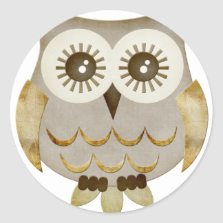 Wide Eyes Owl Classic Round Sticker