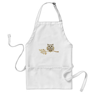 Wide Eyes Owl in Tree Adult Apron