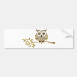 Wide Eyes Owl in Tree Bumper Sticker