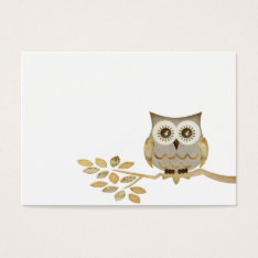 Wide Eyes Owl In Tree Business Card at Zazzle