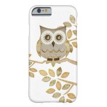 Wide Eyes Owl in Tree Case