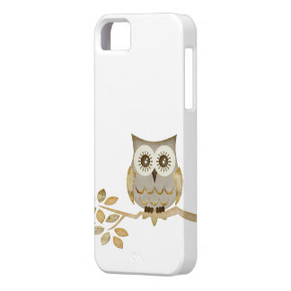 Wide Eyes Owl in Tree Case iPhone 5 Covers