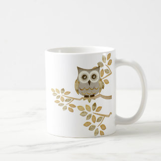 Wide Eyes Owl in Tree Coffee Mug