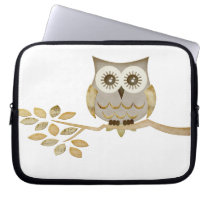 Wide Eyes Owl in Tree Electronics Bag