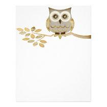 Wide Eyes Owl in Tree Flyer