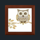 "Wide Eyes Owl in Tree Gift Box<br><div class=""desc"">Graphic design</div>"